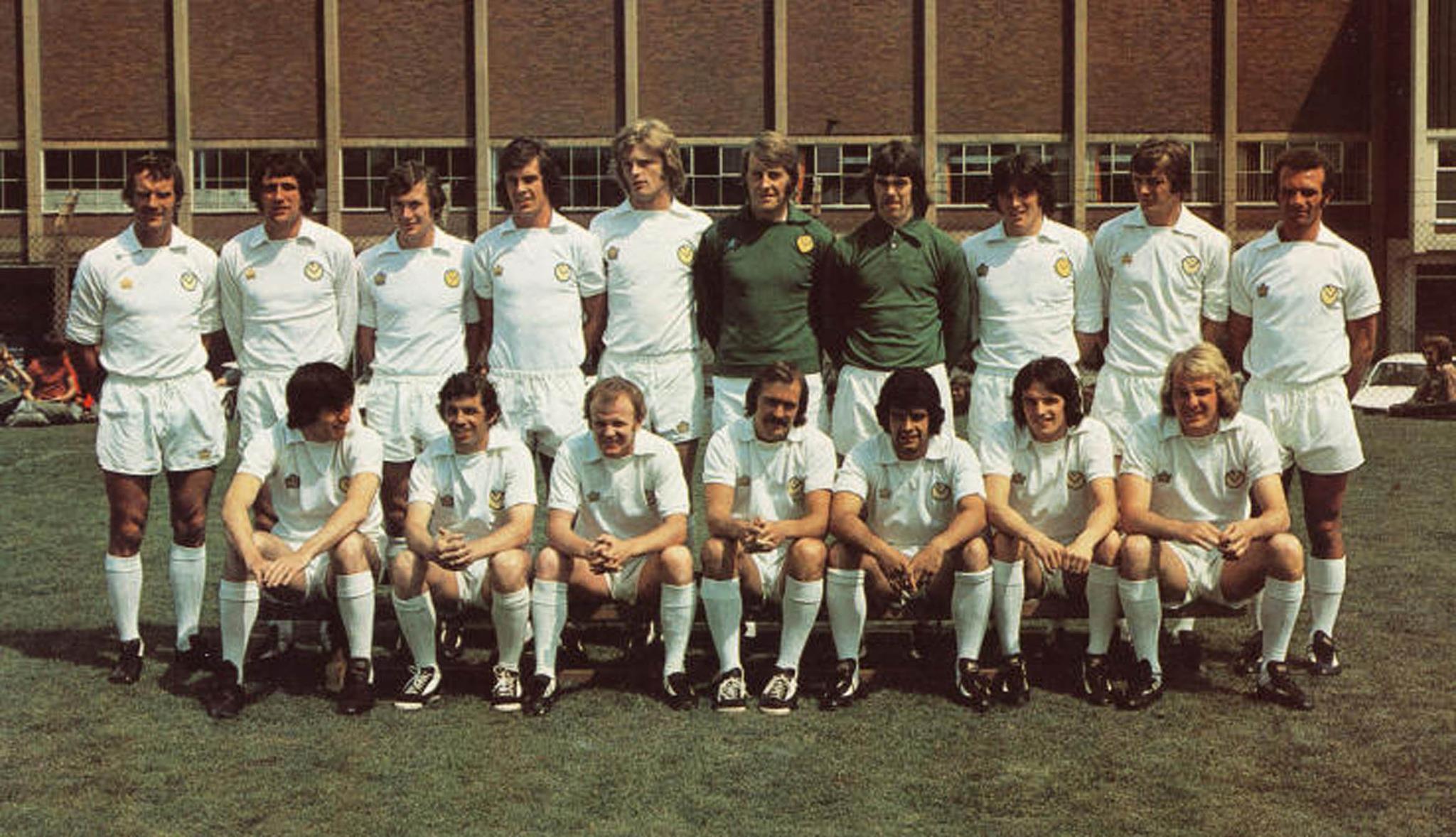 Leeds 1973 mit Bremner, wie immer in Admiral.